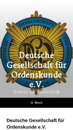 Vorschau der mobilen Webseite deutsche-gesellschaft-fuer-ordenskunde.de, Deutsche Gesellschaft für Ordenskunde e.V.