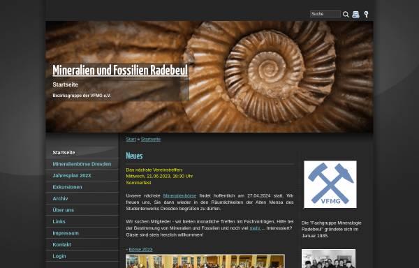 Vorschau von www.fg-radebeul.de, Fachgruppe Mineralogie und Paläontologie Radebeul