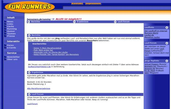 Vorschau von www.funrunners.de, Fun Runners