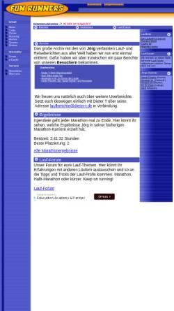 Vorschau der mobilen Webseite www.funrunners.de, Fun Runners