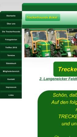 Vorschau der mobilen Webseite www.treckerfreunde-bokel.de, Treckerfreunde Bokel