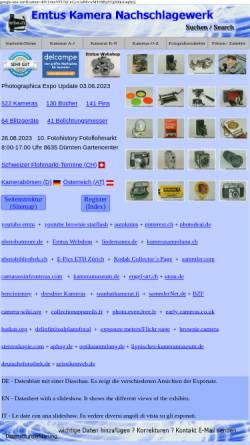 Vorschau der mobilen Webseite www.emtus.ch, Emtus Kamera Nachschlagewerk