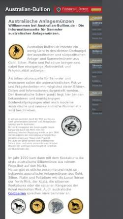 Vorschau der mobilen Webseite www.australian-bullion.de, Australian-Bullion