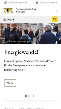 Vorschau der mobilen Webseite www.rp-tuebingen.de, Landesstelle für Straßentechnik