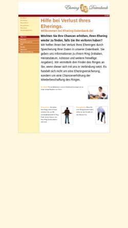 Vorschau der mobilen Webseite www.eheringdatenbank.de, Ehering Datenbank