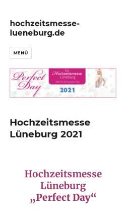Vorschau der mobilen Webseite www.hochzeitsmesse-lueneburg.de, Hochzeitsmesse Lüneburg