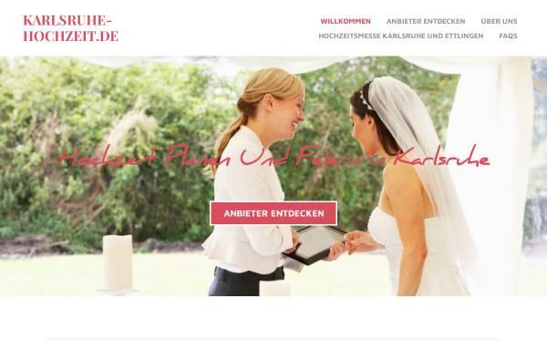 Vorschau von www.karlsruhe-hochzeit.de, Karlsruhe Hochzeit