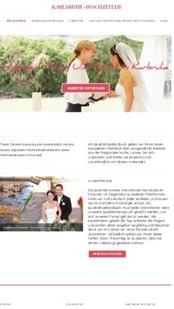 Vorschau der mobilen Webseite www.karlsruhe-hochzeit.de, Karlsruhe Hochzeit