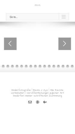 Vorschau der mobilen Webseite kinderphotographin.de, Beata Zys Photographie