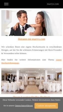 Vorschau der mobilen Webseite www.marryx.com, marryx