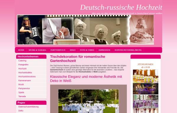 Vorschau von deutsch-russische-hochzeit.de, Deutsch-russische Hochzeit