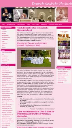 Vorschau der mobilen Webseite deutsch-russische-hochzeit.de, Deutsch-russische Hochzeit