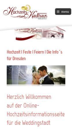 Vorschau der mobilen Webseite www.hochzeits-kaufhaus.de, Automobile Landpartien GmbH