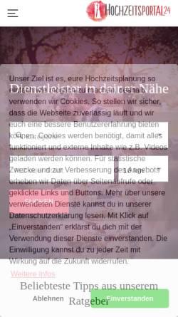 Vorschau der mobilen Webseite www.hochzeitsportal24.de, Hochzeitsportal24