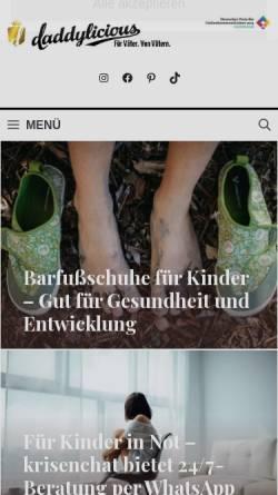 Vorschau der mobilen Webseite www.daddylicious.de, DADDYlicious