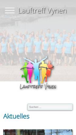 Vorschau der mobilen Webseite www.lauftreff-vynen.de, Lauftreff Vynen