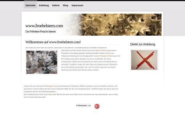 Vorschau von www.froebelstern.com, Fröbelsterne basteln - Lighton IT-Solution, Martin Weinschenk