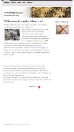 Vorschau der mobilen Webseite www.froebelstern.com, Fröbelsterne basteln - Lighton IT-Solution, Martin Weinschenk
