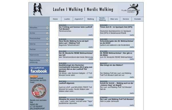 Vorschau von www.lauftreff-mondorf.de, Lauf-/Walking- und Inliner-Treff des TuS Mondorf