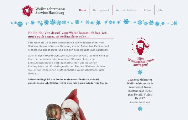Vorschau von www.weihnachtsmann-service-hamburg.de, Weihnachtsmann-Service Hamburg - Borgwardt & Co. GbR