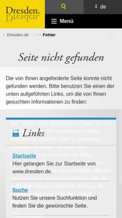Vorschau der mobilen Webseite www.dresden.de, Dresdner Striezelmarkt - Landeshauptstadt Dresden