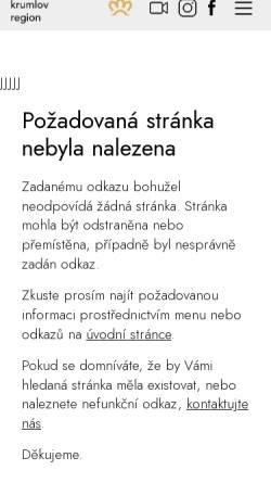 Vorschau der mobilen Webseite www.ckrumlov.info, Advent und Weihnachten in Český Krumlov (Krumau)
