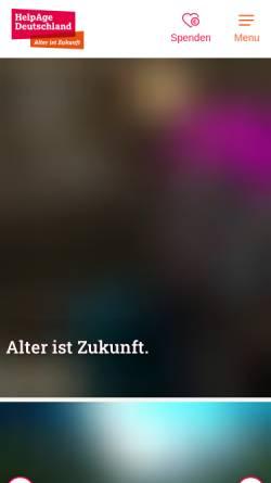 Vorschau der mobilen Webseite www.helpage.de, HelpAge Deutschland