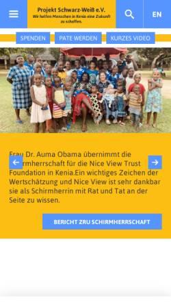 Vorschau der mobilen Webseite www.kenia-hilfe.com, Projekt Schwarz-Weiß e.V.