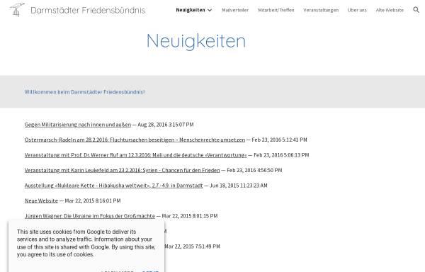 Vorschau von sites.google.com, Darmstädter Friedensbündnis