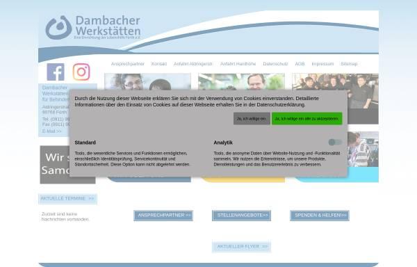 Vorschau von www.dambacher-werkstaetten.de, Dambacher Werkstätten für Behinderte gem. GmbH