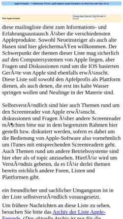 Vorschau der mobilen Webseite www.as-2.de, AppleFreunde Mailingliste