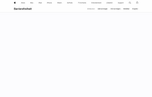 Vorschau von www.apple.com, Apple Bedienungshilfen
