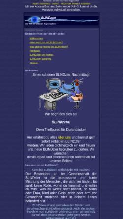 Vorschau der mobilen Webseite www.blindzeln.org, Blindzeln