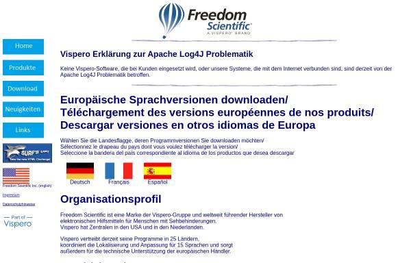 Vorschau von www.freedomsci.de, Freedom Scientific GmbH