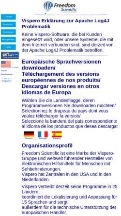 Vorschau der mobilen Webseite www.freedomsci.de, Freedom Scientific GmbH