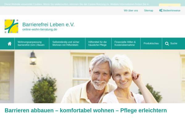 Vorschau von www.online-wohn-beratung.de, Beratung zu Hilfsmitteln für die Wohnung, Wohnungsanpassung und barrierefreier Hausbau