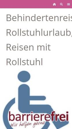 Vorschau der mobilen Webseite www.suesse-reisen.de, Süße-Reisen