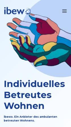 Vorschau der mobilen Webseite ibewo.de, Individuelles Betreutes Wohnen