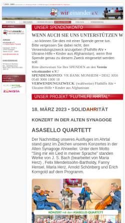 Vorschau der mobilen Webseite www.wireinander.de, Wir.einander e.V.