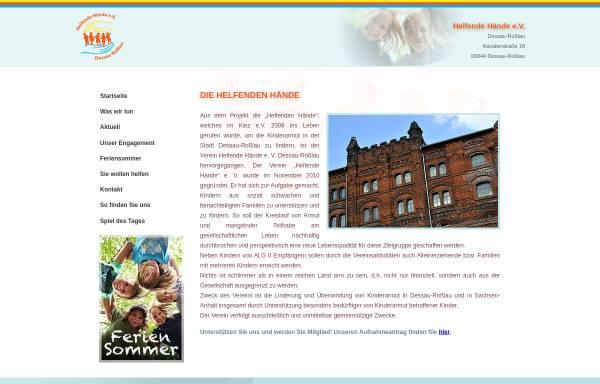 Vorschau von www.helfende-haende-dessau-rosslau.de, Helfende Hände e.V. Dessau-Roßlau