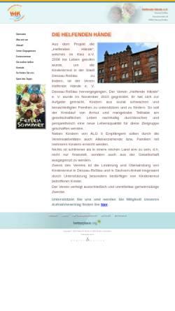 Vorschau der mobilen Webseite www.helfende-haende-dessau-rosslau.de, Helfende Hände e.V. Dessau-Roßlau