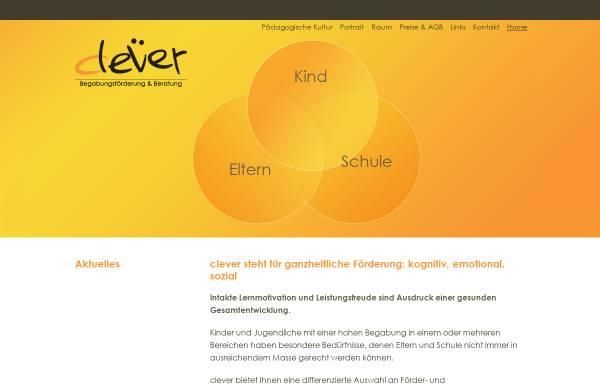 Vorschau von www.clever-begabungsfoerderung.ch, Clever Begabungsförderung & Beratung, Eveline Schneibel