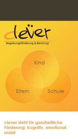 Vorschau der mobilen Webseite www.clever-begabungsfoerderung.ch, Clever Begabungsförderung & Beratung, Eveline Schneibel