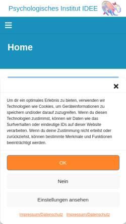 Vorschau der mobilen Webseite www.institut-idee.de, Institut IDEE