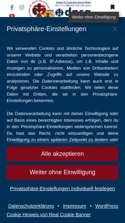 Vorschau der mobilen Webseite www.dpsg-st-franziskus.de, DPSG St Franziskus Herne