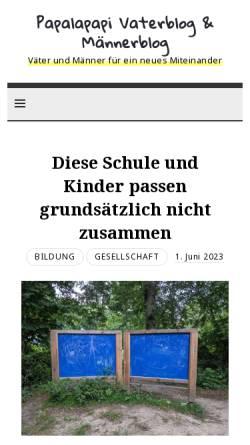 Vorschau der mobilen Webseite www.papalapapi.de, Papalapapi