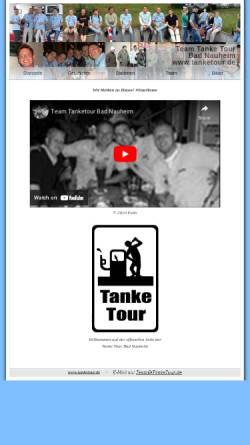 Vorschau der mobilen Webseite www.tanketour.de, Team Tanke Tour Bad Nauheim