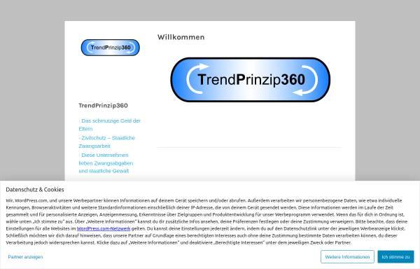 Vorschau von trendprinzip360.wordpress.com, TrendPrinzip360