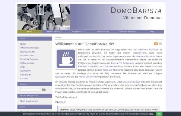 Vorschau von www.domobarista.de, Fertinger, Christoph - DomoBarista