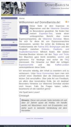 Vorschau der mobilen Webseite www.domobarista.de, Fertinger, Christoph - DomoBarista